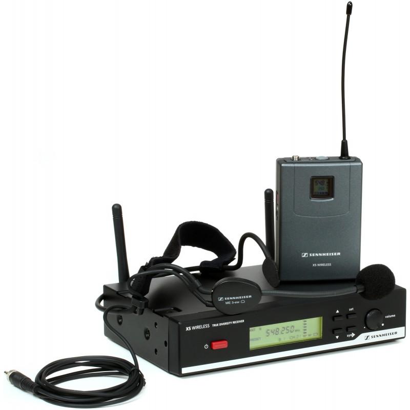 sennheiser wireless microphone headset system xsw 52 microphone audio video. Black Bedroom Furniture Sets. Home Design Ideas
