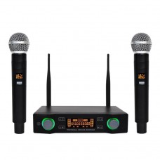Yamaha E-804 Dual Channel Handheld Professional Karaoke UHF Wireless Microphone