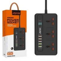 Aspor Power Strip With Off Timer & 5 USB Port A503