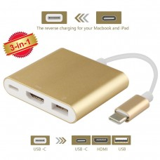 Type C USB 3.1 to HDMI USB 3.0 Adapter 3in1 Converter