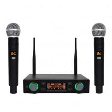 Yamaha E-804 Dual Channel Handheld Professional Karaoke UHF Wireless Microphone